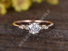 1.5CT D/VVS1 Signity Diamond Solitaire Engagement Ring 14K Rose Gold Over All Sz