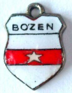 Bozen Bolzano vintage enamel travel souvenir place town bracelet charm