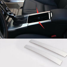 For Volvo XC60 2009-2015 Stainless Inner Middle Armrest Decoration Cover Trim 2P