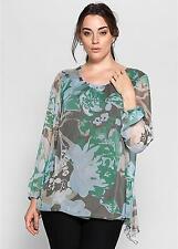 Sheego Floral Chiffon Tunic Size 32 Rrp £45 Box27 05 S