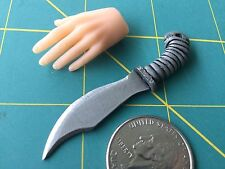 "Fantasy ""Grey Wiz Bowie"" Knife 1:6 Scale Hand Crafted Miniature Steel By Auret"