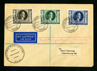 German Flight Cover w/ 3x Stamps