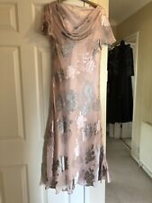 Jacques Vert Size 12 Mother Of The Bride Pink And Silver Dress