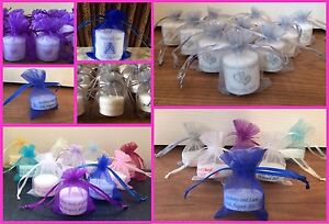 Personalised Candle Tealight Wedding Favours (Set of 10)