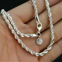 """UK~ Wholesale Bulk 925 Silver Filled 3MM Classic Snake Necklace Chain 16 - 30"""""""
