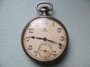 ancienne montre gousset homme OMEGA argent massif (fonctionne parfaitement)