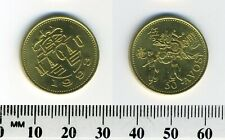 Macao 1993 - 50 Avos Brass Coin - Figure in ceremonial dragon costume led by man