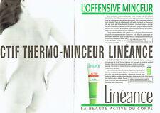 Publicité Advertising 018  1987   linéance  (2p)  beauté du corps  nu