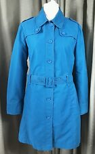 Laura Ashley Blue Trench Coat - Size 18 EXCELLENT CONDITION