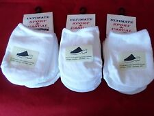 9 Pair Womens Toe Topper Half Sock White Slings Mules Sandals 4-10 USA