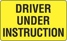 Pair Of Driver Under Instruction 525x250mm Poly Sign Traffic Truck TC405-LSP
