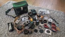 Asahi Pentax Spotmatic 35mm Slr Film Camera Lot, lens, filters, cameras, bag etc