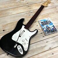 Rock Band Wii NWGTS2 Harmonix Fender Wireless Guitar w/ Rockband 2 Game TESTED