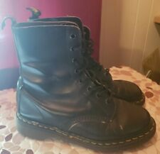 Doc Martens 8 Eye Black Boots Us 8 Made in England Dr. 1460 Punk Goth Used