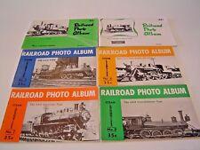 SIX (6) RAILROAD PHOTO ALBUM BOOKS, VOLUMES # 1 THRU 6, 1951-1952. STEAM LOCO'S