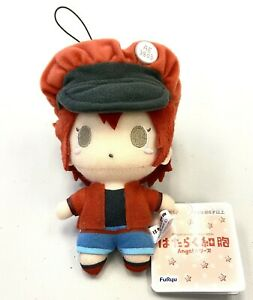 Cells at Work Mascot Small Plush Toy Doll Angels Style Red Blood Cell AMU10402