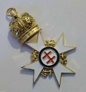 Knight Templar Past Preceptor Jewel. High Quality. Brand New