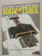 Road And Track MAGAZINE July 1966 Charlie Hayes McLaren Elva Chevrolet