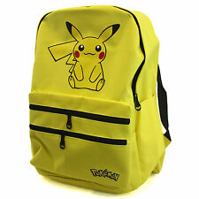 "PIKACHU Pokemon 17"" Backpack Adjustable Strap Front Pocket School Boys Girls USA"