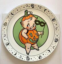 "NIB Sourpuss Halloween Pumpkin Costume Kewpie 9"" Dinner Plate Dish Cupie"