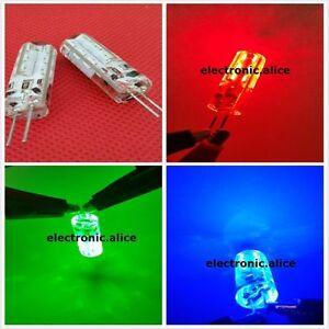 G4 2W 2 watt 24LED SMD 3014 LED Red Green Blue Light Bulb DC 12V