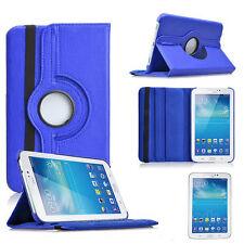"""Samsung Galaxy Tab 2 P3100 7"""" 360° CASE COVER SCHUTZ HÜLLE TASCHE DUNKELBLAU"""