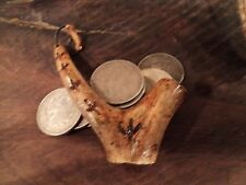 Hand Carved Deer Antler Black Powder Measure 50 grs