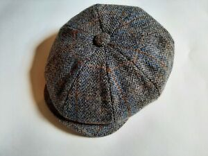 Christies Baker Boy Cap Harris Tweed Size Medium.