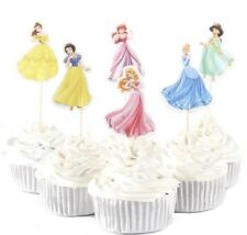 NEW Disney Princess Theme Character Cupcake Toppers x 24 - For Parties