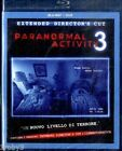PARANORMAL ACTIVITY 3 EXTENDED DIRECTOR'S CUT NUOVO SIGILLATO IN BLU-RAY + DVD