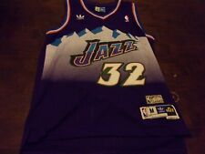 Karl Malone Utah Jazz used mens medium Adidas Hardwood Classics jersey NBA