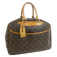 LOUIS VUITTON DEAUVILLE BUSINESS HAND BAG PURSE MONOGRAM CANVAS M47270 33649