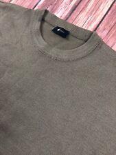 Gabicci Mens Crew Neck Medium Knit Jumper Sweater Camel Brown Wool Mix Size 2XL