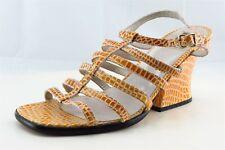 Charles Jourdan Size 8 M Yellow Gladiator Patent Leather Women Sandal Shoes