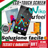"LCD DISPLAY+TOUCH SCREEN PER WIKO U FEEL UFEEL 5"" SCHERMO MONITOR BIANCO NERO!!!"