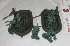 Marx reissue WWII Marines Raiders with 2 rafts and 10 toy soldiers