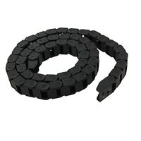 Black Plastic Drag Chain Cable Carrier 10 x 15mm for CNC Router Mill T5Z1