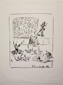"""Roman SCHEIDL (geb. 1949), """"Schöne Grüße"""", TUSCHE AUF PAPIER, SIGNIERT"""