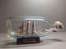 """Botella Vintage Barco """"Fock barco"""", Decoración Marítima, Nave De Botella 7"""" o 17 Cm"""