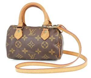 Auth LOUIS VUITTON Speedy Mini Monogram Boston 2-Way Shoulder Handbag #38092