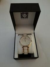 Anne Klein Women's Resin Bracelet Dress Watch White/Gold