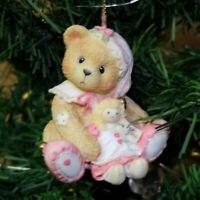 Cherished Teddies Enesco Vintage Bear with Elf Holiday Christmas Ornament