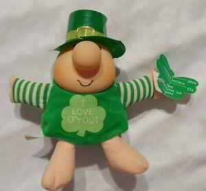 Vintage Ziggy Plush Doll St. Patrick's Day I Love O You Tom Wilson 1990