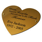 Solid Brass Heart shaped plaque 4 sizes Engraved Personalised