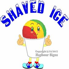 """Shaved Ice Decal 13"""" Concession Trailer Food Truck Cart Vinyl Sign"""