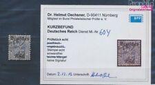 Deutsches Reich D60Y geprüft gestempelt 1920 Dienstmarken (8271060