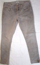 Madewell Jeans Size 28 Measured 30 X 30 Distressed Colored Beige Brown Denim