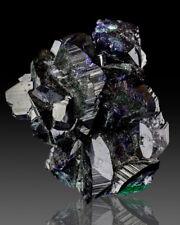 "1.9"" StunningShinyBlue AZURITE Crystals Overcoating Malachite Milpillas for sale"