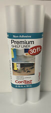 Pack of 2 - Rolls Con-Tact Premier Non-Adhesive Shelf Liner 30 FT Contact NEW