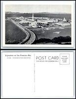 CALIFORNIA Postcard 1939 San Francisco,Golden Gate Expo, Aerial View K17